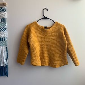Eileen Fisher | Mustard Alpaca Fur Ribbed Sweater